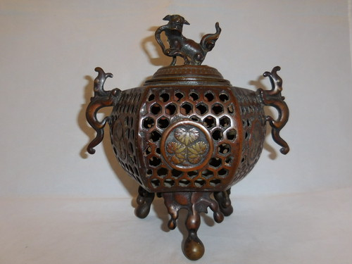 香炉 multi-metal incense burner (brown)