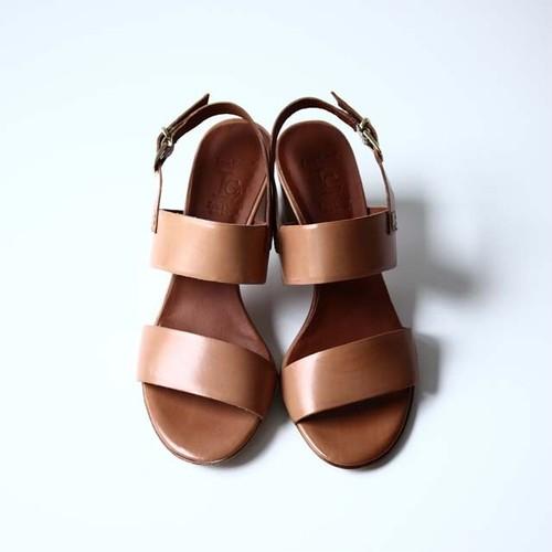 【Luca Grossi】Leather Heel Sandal