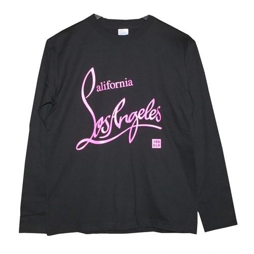 IROGLO(イログロ)×California Losangeles(カリフォルニアロサンゼルス)/ロンT/ブラック×蛍光ピンク