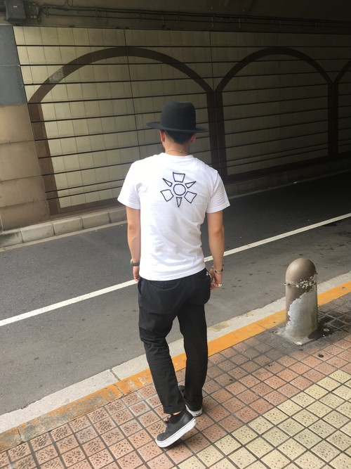 Sun's Bop ビッグ刺繍Tシャツ 黒 Sサイズ