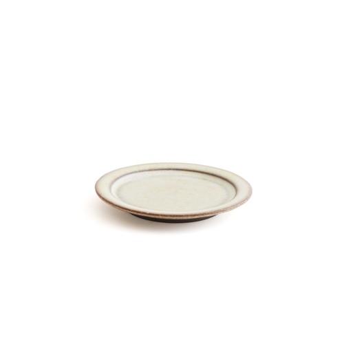 二川修/3寸リム皿 白