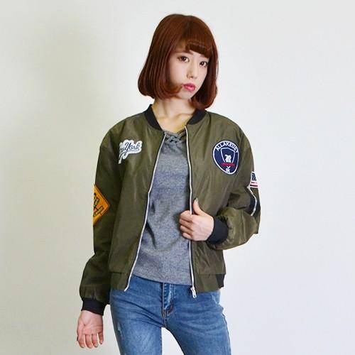 【PuA select】パッチ刺繍付きMA-1 ジャケット