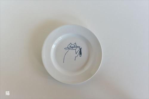 【トラネコボンボン 】丸皿(小)
