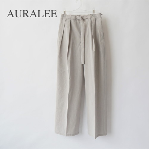 AURALEE/オーラリー ・WASHED FINX RIPSTOP CHAMBRAY BELTED PANTS