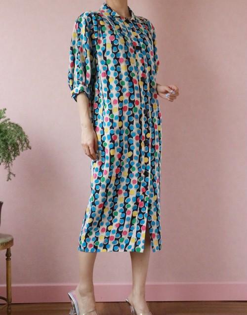 Christian Dior multi dots silk dress