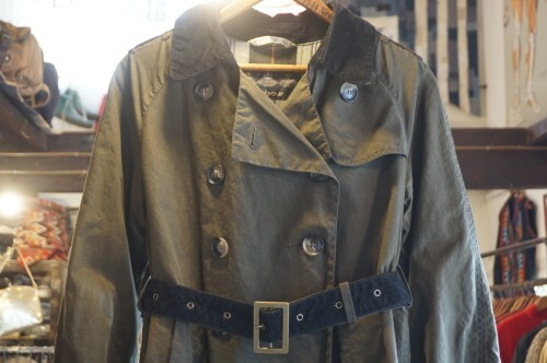 Barbour sage waxed cotton trench Coat