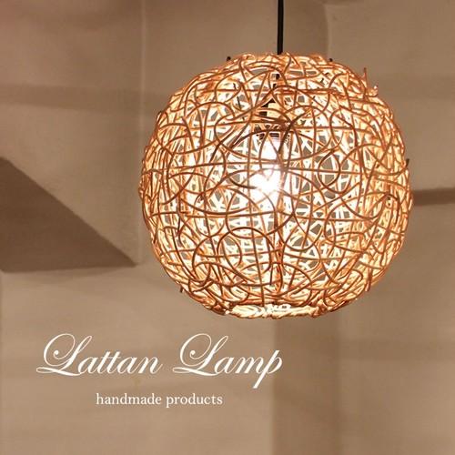 ■当日出荷■かわいいラタンのペンダント照明 30cmナチュラル色 L02