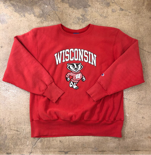 Champion Wisconsin Print Sweat ¥6,200+tax