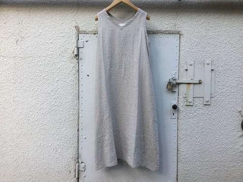 "Womens AUGUSTE-PRESENTATION Pajama look "" ノースリーブワンピース "" LIGHT GRAY"