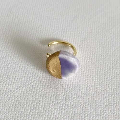 マル金彩イヤカフ紫