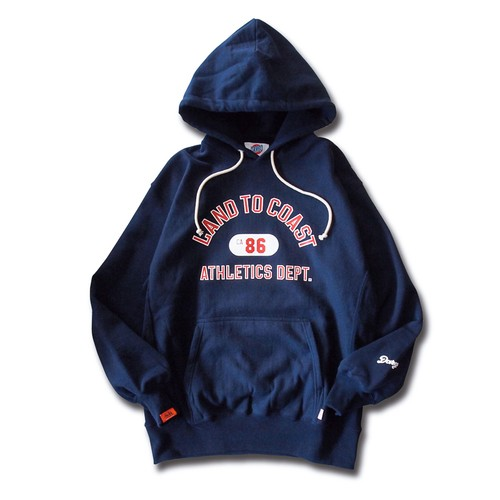 "【DARGO】""LAND TO COAST"" Heavy Weight Pull Over Hoodie (NAVY)"