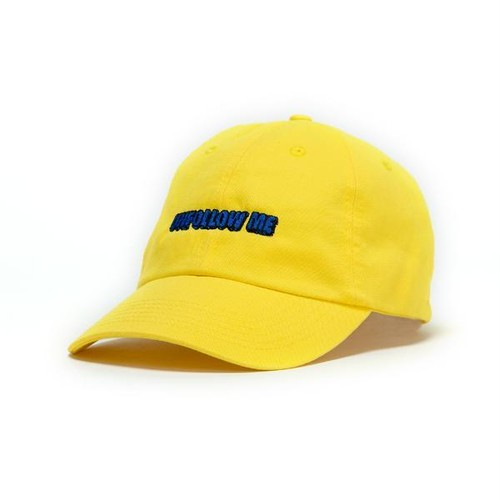 UNFOLLOW ME YELLOW BRIGHT DAD CAP
