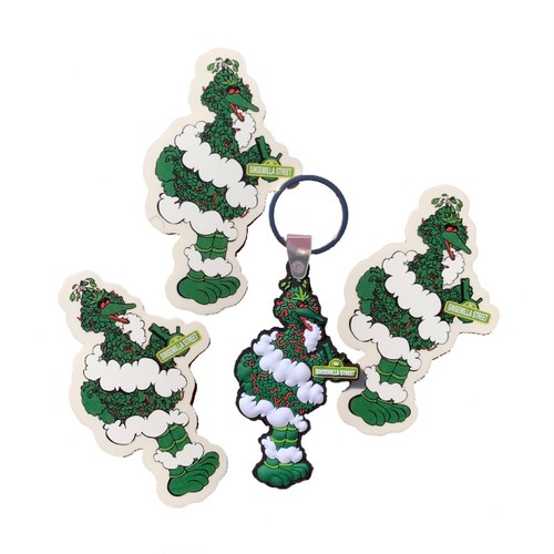 T.B.H.C BIG BUDS BIRD KEYRING & STICKER PACK