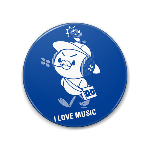 PERORINE I love music A 缶バッジ