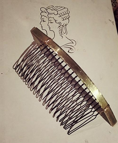 真鍮/ヘアアクセサリー/端叩きプレート