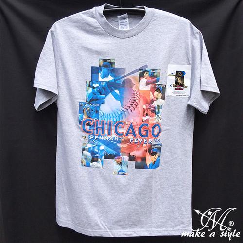 CHICAGO CUBS MLB シカゴ カブス TEE Tシャツ 灰 2008 M L XL B系 ストリート系 ヒップホップ ギャング マフィア スケーター パンク ロック sk8 バイカー 西海岸 183
