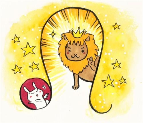 星座のメッセージカード「獅子座」