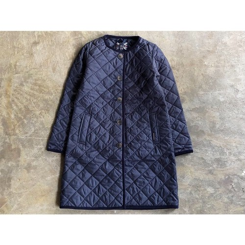 LAVENHAM (ラベンハム) 『LOUND』No Collar Quilting Jacket