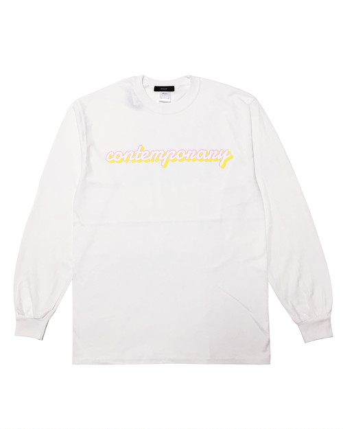 contemporary Long sleeve T shirt WHITE
