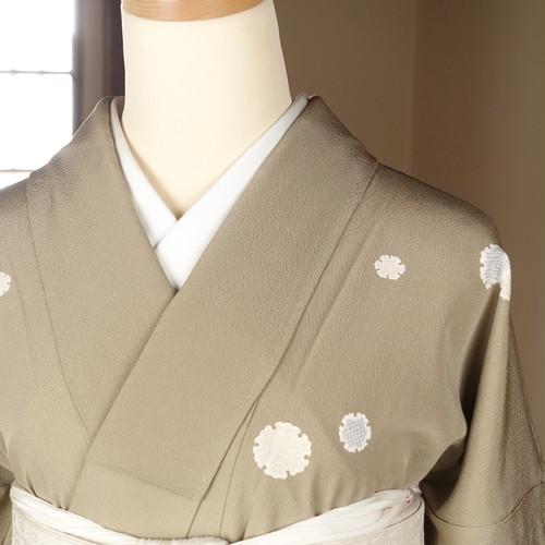 雪輪(162cm・69cm)  正絹小紋【1674】