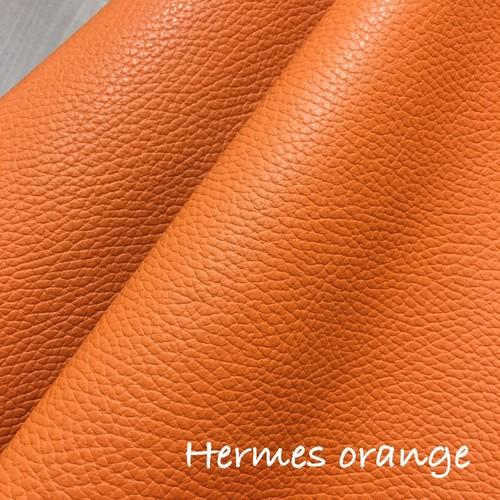 36cm×36cmカルトナージュ用イタリア製レザー (エルメス オレンジ)