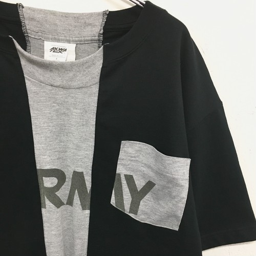 LIKE THIS LIKE THAT : CAMBER×US.ARMY  「separate body pocket Tee」 (remake)