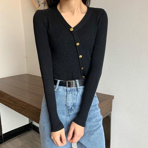 【トップス】秋冬合わせやすい着やせ見えVネックニットセーター