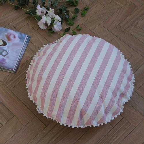 ☆70%off☆【カバーのみ】canvas stripes クッションカバー pompon R
