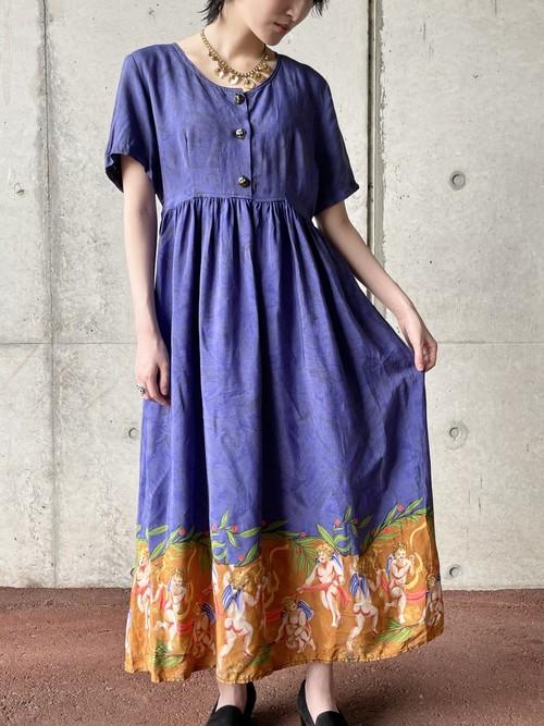 Vintage Antthony Mark Hankins  Angel Pattern Dress Made In USA