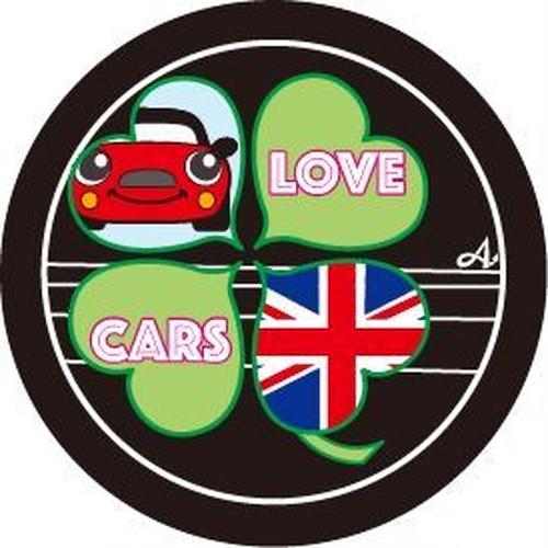 ★オリジナルデザイン★バッジ(四つ葉 Love Cars)
