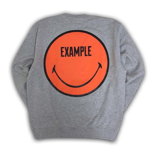 EXAMPLY CREW NECK 9oz(PILE) /GRAY