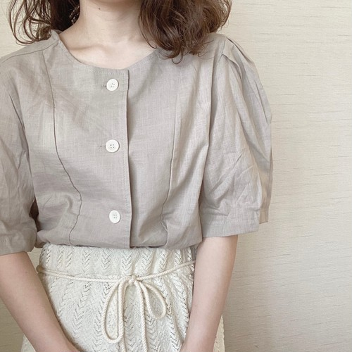 button blouse[7/22n-2]残りわずか