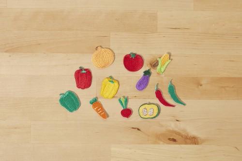 (大)野菜の刺繍ワッペン