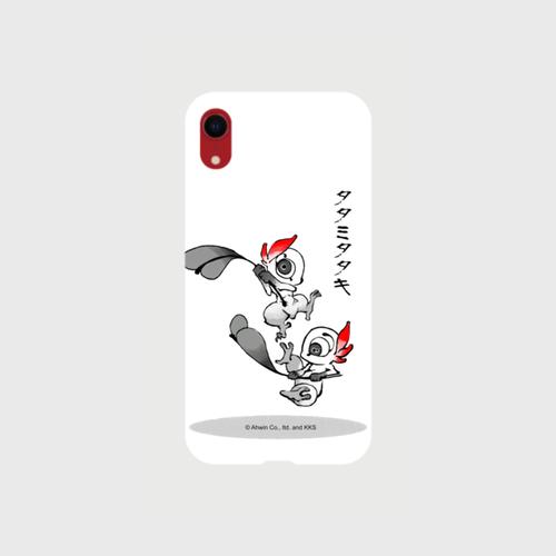 あやかし図録:タタミタタキ オリジナル スマホケース(iPhone11 XR:ホワイト)