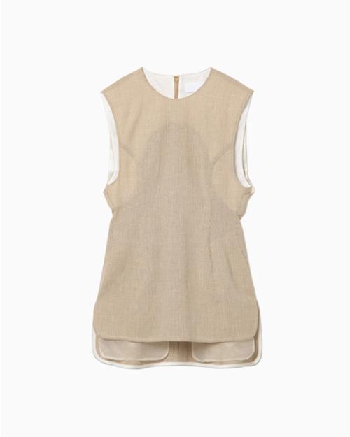 【20SS】mame kurogouchi マメクロゴウチ / Wool Linen Sleeveless Tops