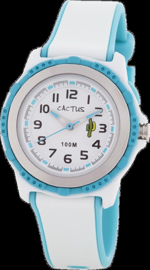 [キッズ腕時計]ライト搭載 10気圧防水 ホワイト CAC-78-M11