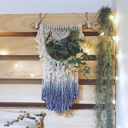 Macrame plant hanger - beach series 002 -