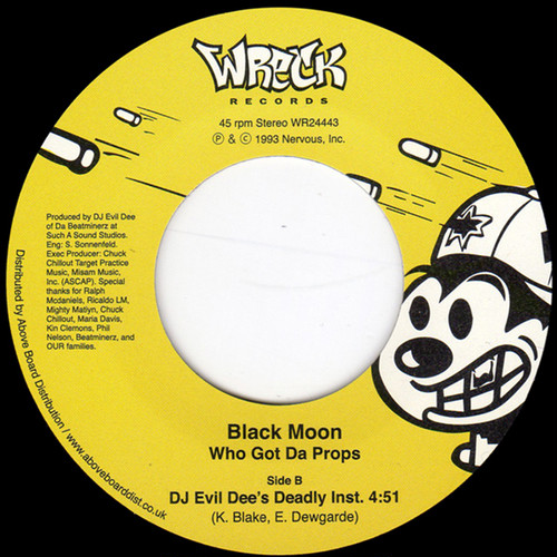 "【残りわずか/7""】Black Moon - Who Got Da Props?"