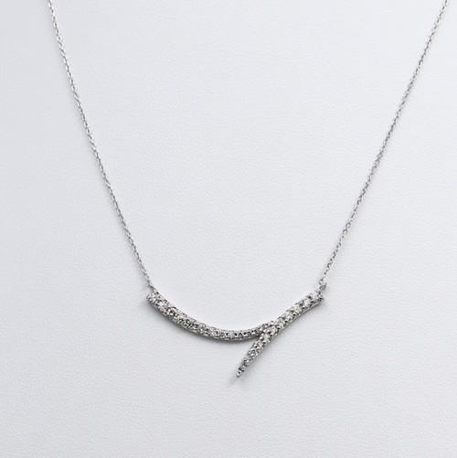 K18WG 0.50ctダイヤモンドネックレス ●