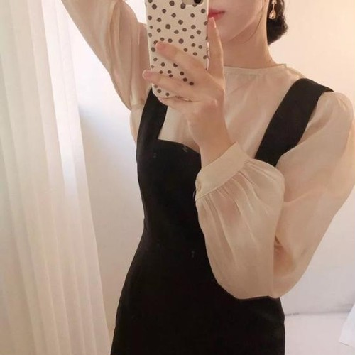 【即納】sheer muse blouse