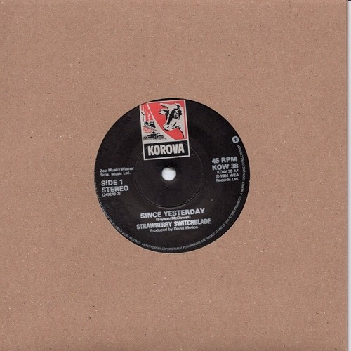【7inch・英盤】Strawberry Switchblade / Since Yesterday