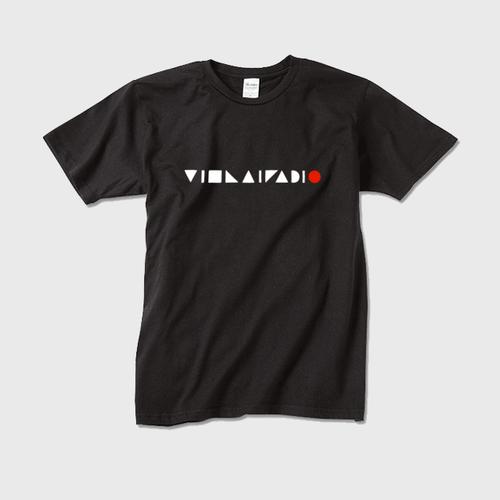文字ロゴTシャツ黒 メンズ