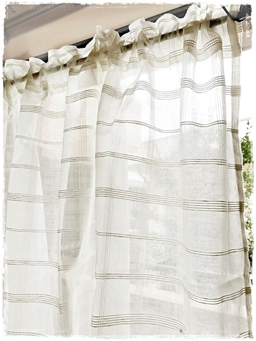 ♥コットンオーガンジー*ロッドポケットカーテン【ショート】W106×H72 ♦現品限りセール中♥