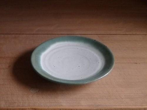 5寸平皿・フチ緑
