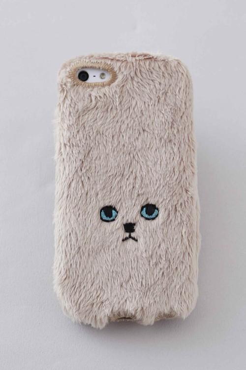 ネコiPhone5/5c/5sカバー 【ゴールド】