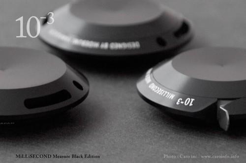 MiLLiSECOND アルミメタルメジャー  / ミリセカンド「ブラック・エディション」