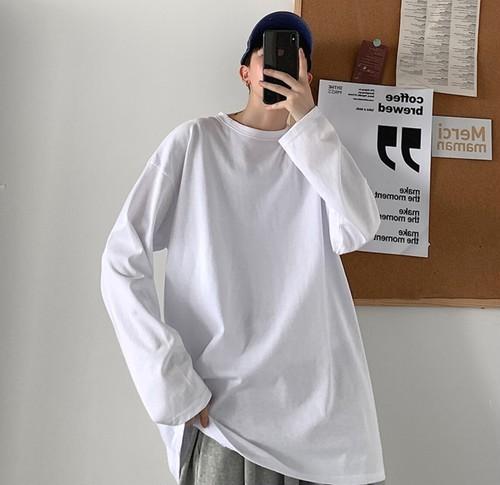 メンズ無地Tシャツ。長袖大きいサイズゆったりコーデおすすめ12カラー