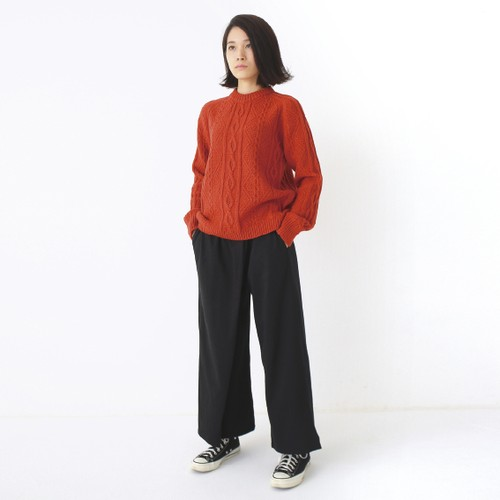 400003 Cable stich Pullover(レンガ)