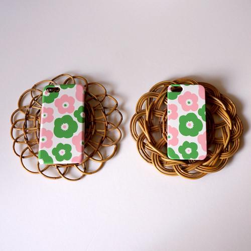 popy ( pink × green ) スマホケース - S / M サイズ 【受注生産】