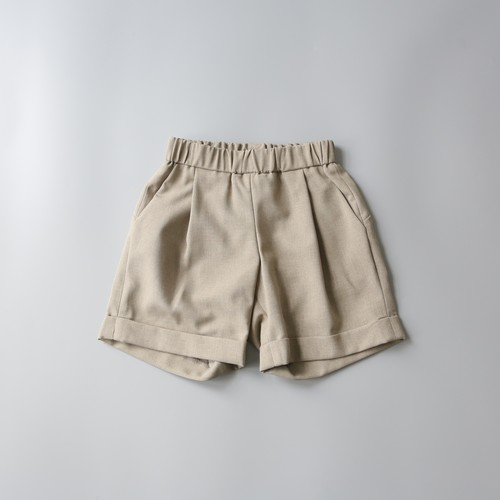 MOUN TEN.(マウンテン)/ polyester canapa 1tuck shorts / khaki / 0(150-160cm)